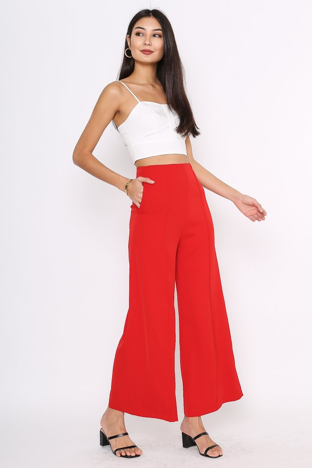 PRESLEY PANELLED PANTS (CRANBERRY RED)