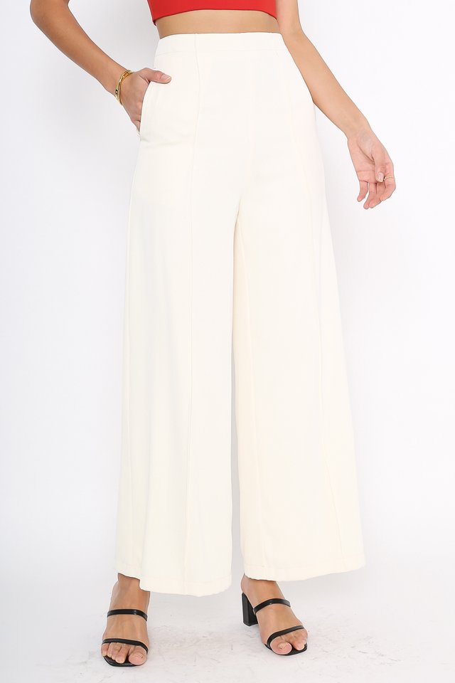 PRESLEY PANELLED PANTS (CREAM)