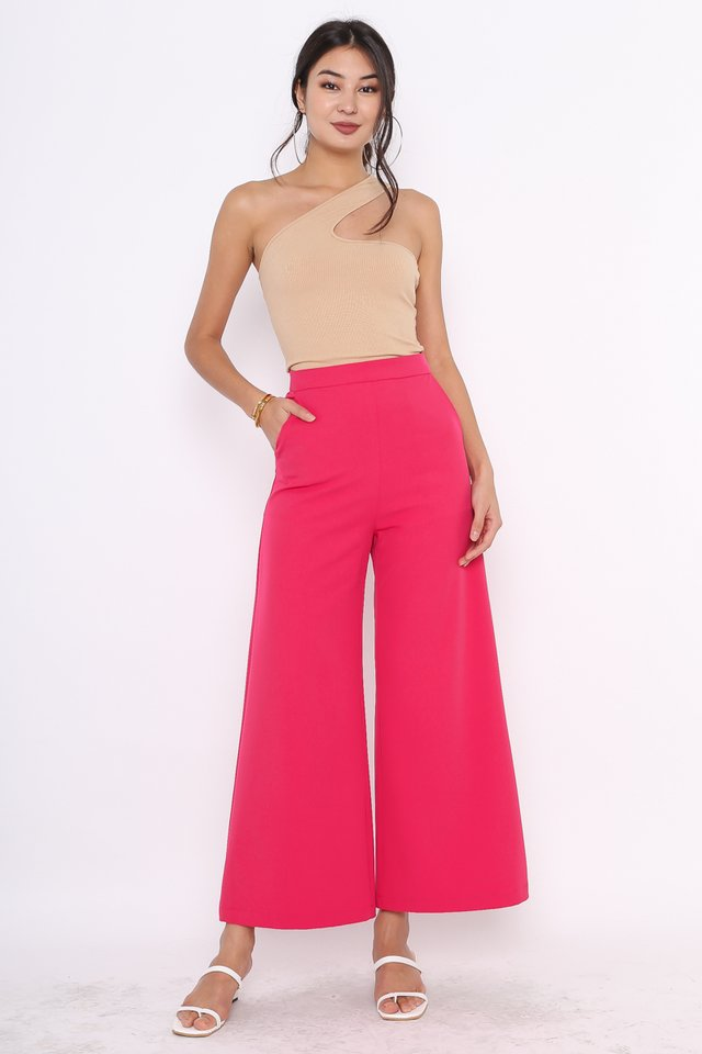 *BACKORDER* VELDA V-DIP PANTS (HOT PINK)