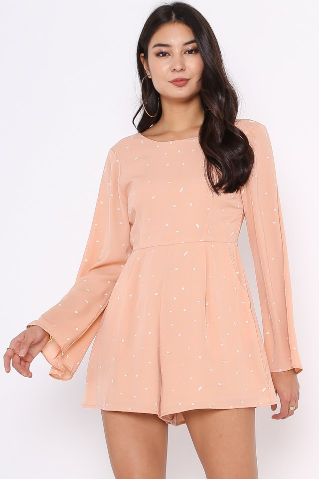 SAFFY SPECKLED ROMPER (PEACH)