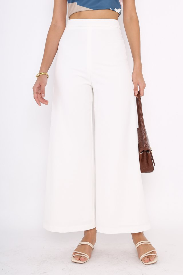 VELDA V-DIP PANTS (WHITE)(XL)