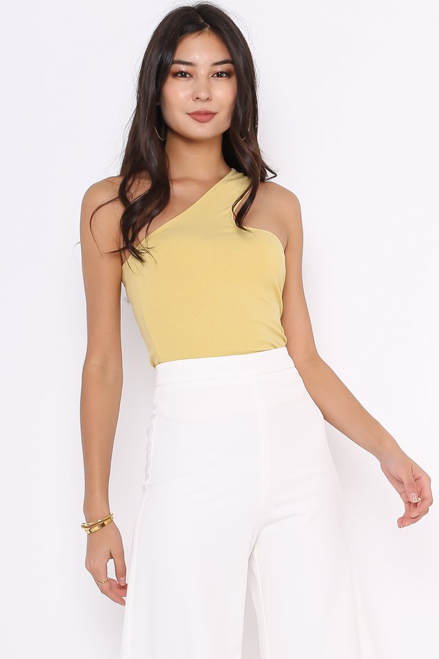CARINE CROSS NECK TOGA (LIGHT MUSTARD)