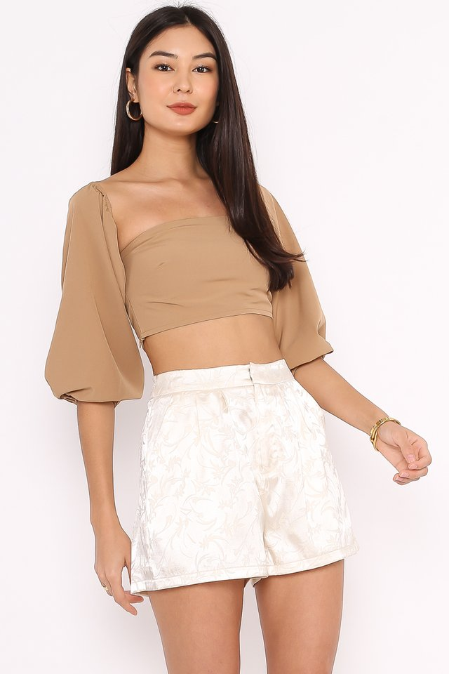PAULINE TOP (NUDE BROWN)