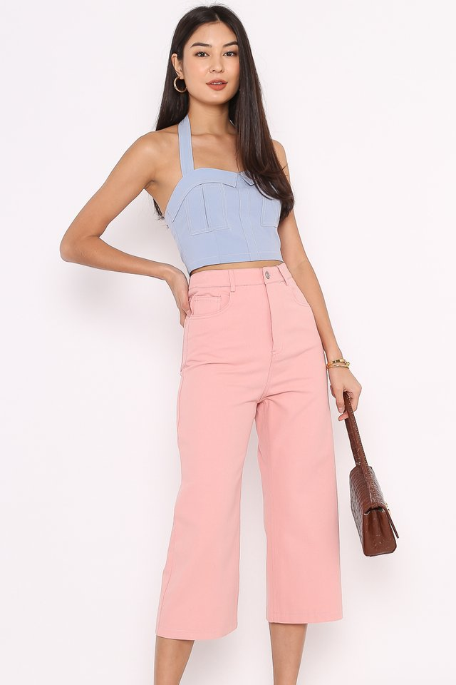 CODY CROPPED JEANS (CANDY PINK)