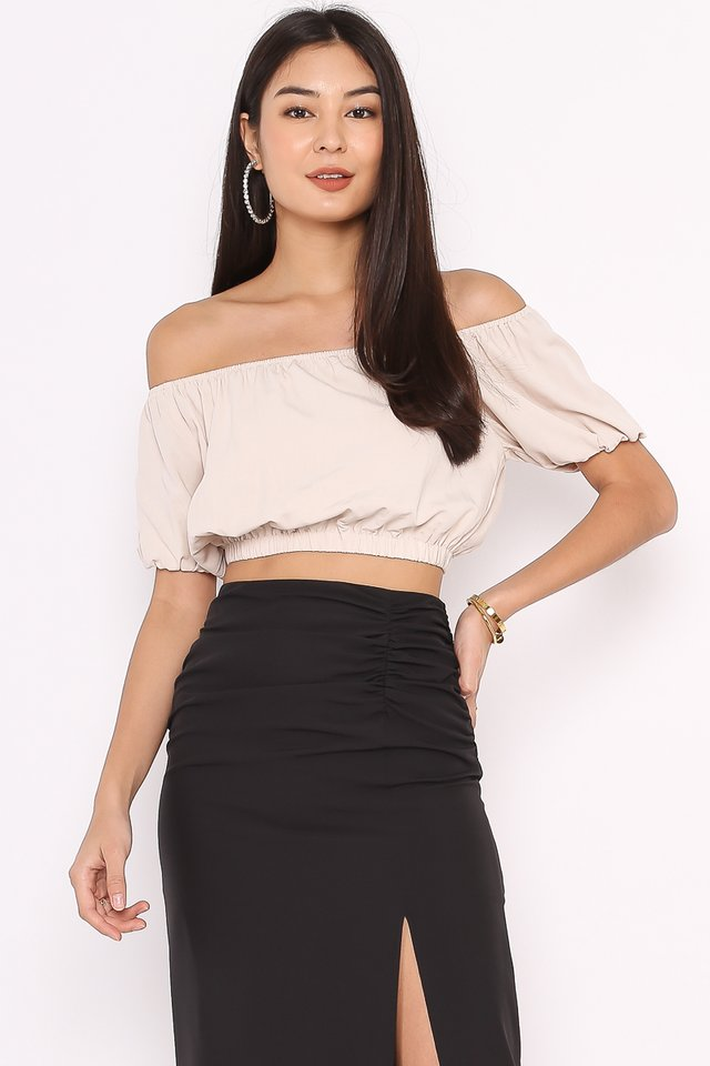 OZZIE OFF SHOULDER TOP (WHEAT)