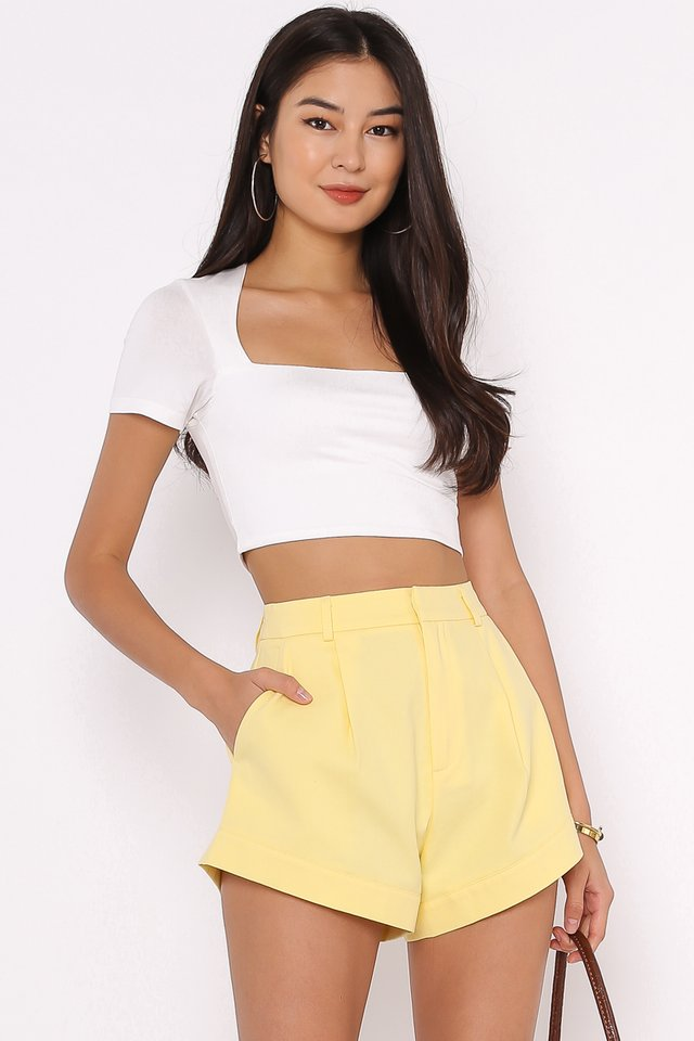 *BACKORDER* CLAUDIE CUT-IN TOP (WHITE)