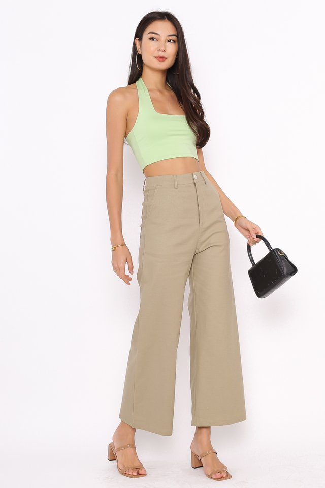 HILTON HALTER TOP (APPLE GREEN)