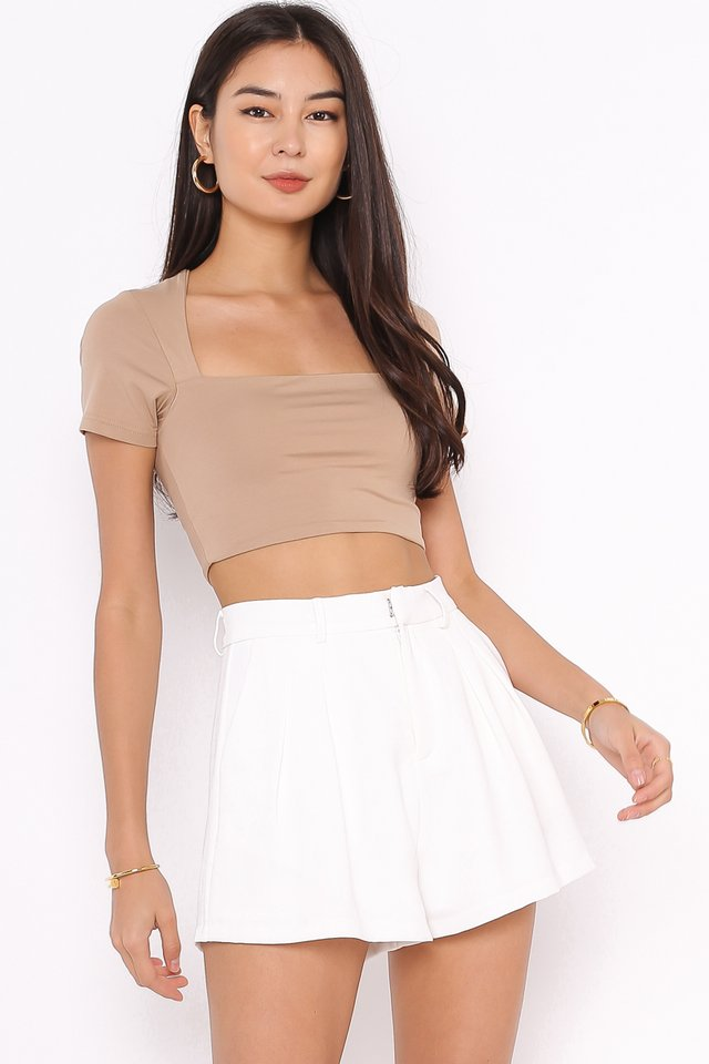 *BACKORDER* CLAUDIE CUT-IN TOP (SANDSTONE NUDE)