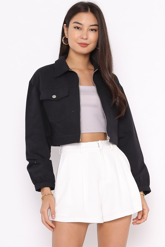 RANDY RING ZIP JACKET (BLACK)
