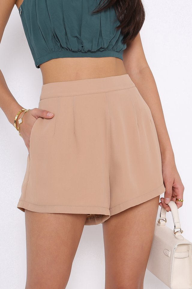 EASY BREEZY SHORTS (NUDE BROWN)