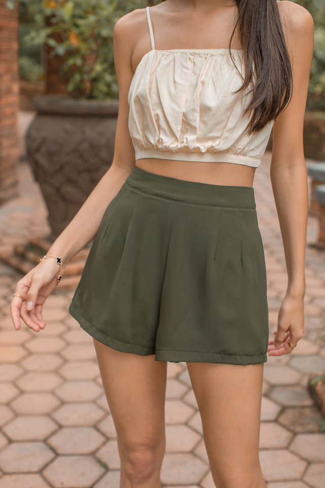 EASY BREEZY SHORTS (DARK OLIVE)