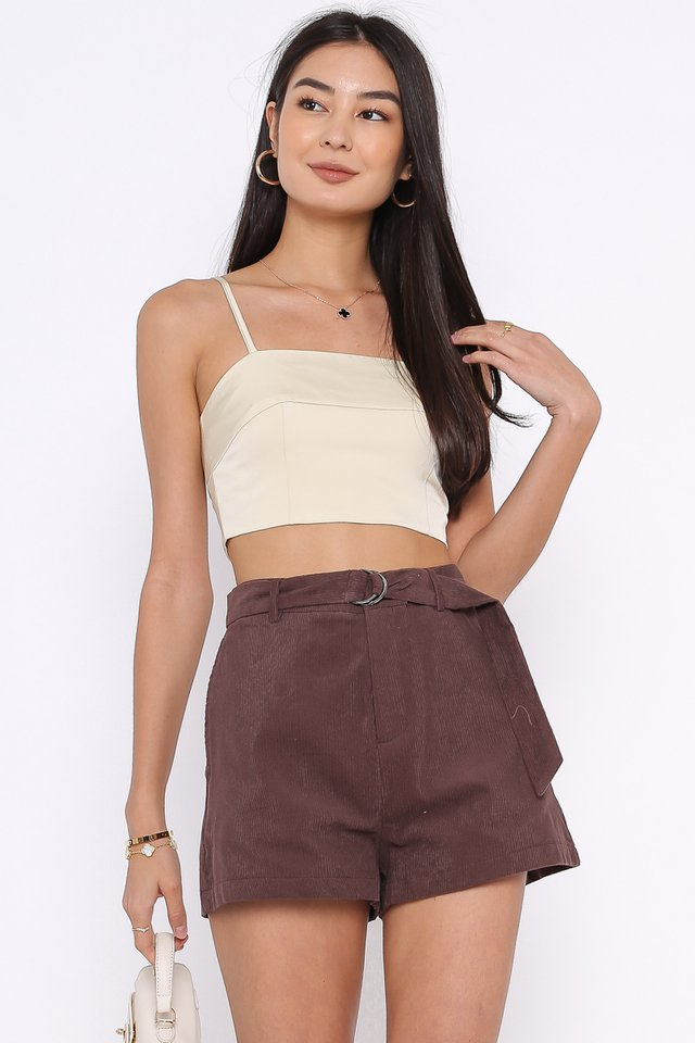 CATHLEEN CORDUROY SHORTS (DEEP PLUM)